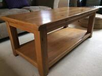 Lovely solid oak coffee table