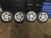 Vw alloy wheels (golf polo passat caddy)etc set of 4