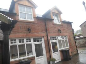 Former coaching house.One bedroom.Located in a quite meuse lane right in the heart of Dumfries