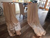 Cream thick fabric curtains x6 great condition