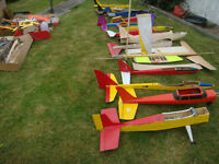 Radio Controled Collection of Model Aircraft plus all the extras for a complete RC flying hobby.