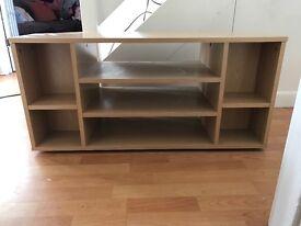 Corner TV unit beech wooden VGC