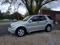 2002 Mercedes ML270 CDI Automatic Diesel, 116,000, Full Leather interior, 10 Months M.O.T