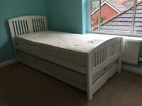 Single bed with pull out guest bed, Marks and Spencer Cabourne range, white