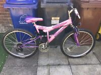 2 GIRLS BIKES FOR SALE 1, 20 inch the other 16