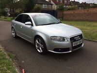 Audi A4 2.0 TDI S Line 4dr (CVT),LEATHER SEATS,AUTOMATIC,6 MONTHS FREE WARRANTY,FULL SERVICE HISTORY