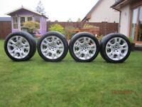 "BMW X1 17"" Winter Tyres,Steel wheels with BMW wheel covers"