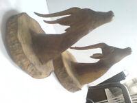 HAND CARVED IMPALA HEADS