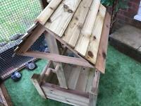 Wooden wishing well garden planter with free local delivery