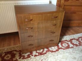 Wooden chest of drawers solid wood, dovetail joints