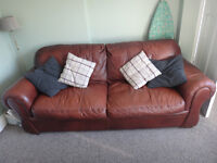 Large (4 seater) faux leather sofa and chair - v comfortable!