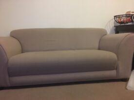 Argos Jenna Compact 3 Seater Fabric Sofa - Mink