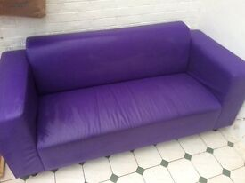 2/3 Seater Faux Leather Sofa great condition