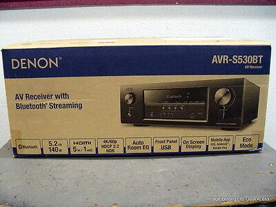 Denon Avr S530bt 5 2 Home Theater A V Receiver W  Bluetooth Avrs530 70 Watts New