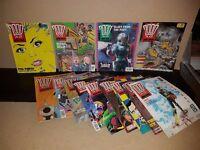 Vintage 1980's Comics - 2000AD - Featuring Judge Dredd