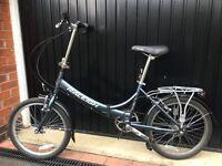 Raleigh Folding Bike, 7 Speed