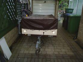 ex trailer tent approx 7x4ft drop tailgate led lights 10in wheels jockey wheel ext