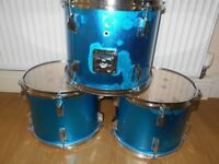 THREE TOM TOM DRUMS