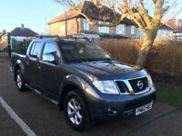 2010 NISSAN NAVARA 2.5 TEKNA GREY BLACK LEATHERS SUNROOF 1 OWNER 107 000 MILES