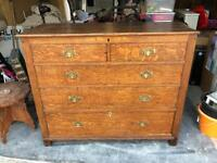 Solid Oak Antique Drawer / Chest