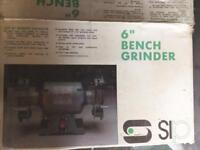"6"" bench grinder new in box"