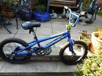 BMX tony hauks blue 18 inch wheel boys bike