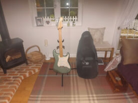 Mexican Fender Stratocaster in aqua-grey