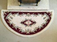 half moon cream/red chinese rug