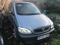 2004/04 VAUXHALL ZAFIRA 1.8 AUTOMATIC SPARE OR REPAIRS