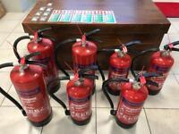7 x powder fire extinguishers