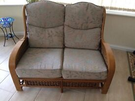 2 seater cane conservatory sofa
