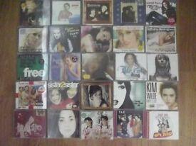 cd s female 25 cds pop/rock.