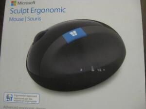 Microsoft Sculpt Ergonomic Wireless Mouse. 2.4Ghz. Nano USB. Comfortable Design. Use with Laptop PC / Surface / Macbook
