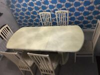 Authentic Italian dinning table and 6 chairs