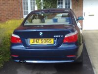 BMW 2007 Blue 525D 3.0 Lt Sport LCI Cream Leather seats