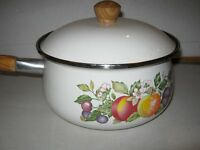 Brand new saucepans (fresh fruit johnson brothers) - Two available at £15 each.