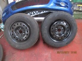 Pair of Brand New Rims and Tyres (not new) from an X Trail 215/65 16