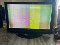3 broken TVs