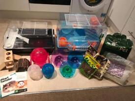 Ferplast & Savic 2x Dwarf Hamster-Mouse Cages **Plus Loads Of Accessories**