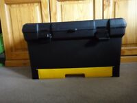 "19"" TOOL BOX Storage Removable Top Tray & Pull Out Organiser Drawer"