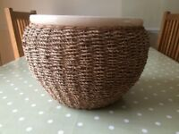 Plant Pot with woven detail