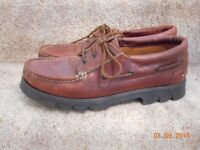 Marks & Spencer Men's Leather Deck Shoes Size 12 - cash on collection from Gosport Hampshire