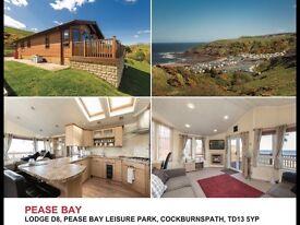 3 bedroom lodge with sea views