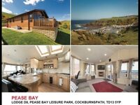 3 bedroom lodge with sea views