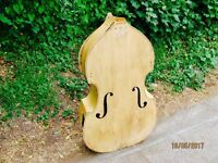 Reclaimed double bass