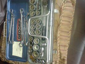 gedore socket set af whitworth plus gedore ring spanner set metric