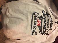 Mens superdry white hoodie XL £15