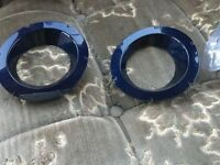 Range Rover vogue L322 fog light trims in like new condition in navy blue only £20