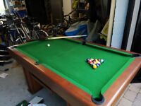 Dining Table Converts to Pool Table! Great for all ages, cantilever