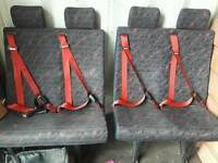 2xdouble van seats